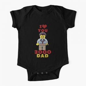 Baby can show off their love to dad on Father's day/birthday with a 'I Love you 3000 Dad' ons piece clothing.  What a gift!